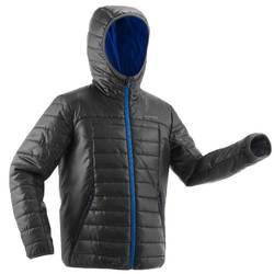 Wattierte Jacke Wandern MH500 Kinder 128-164cm schwarz/blau