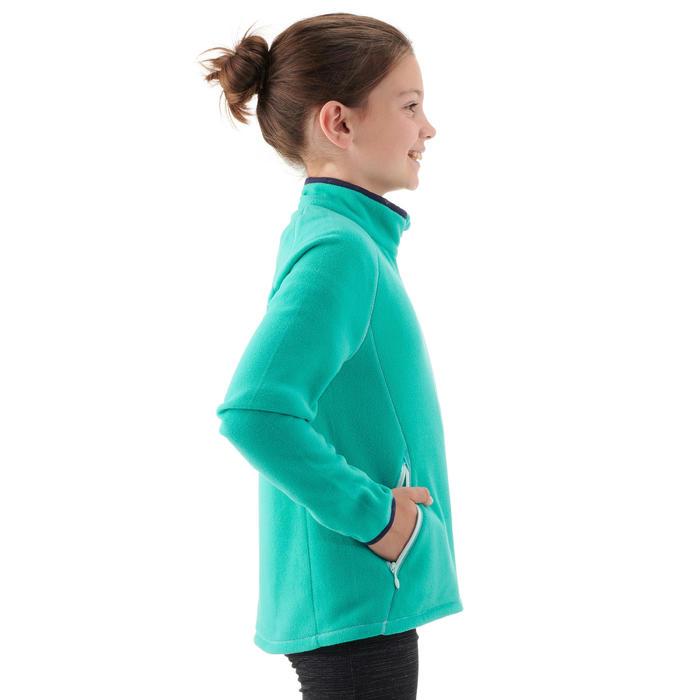 Veste polaire randonnée enfant MH150 bleu turquoise 7-15 ans