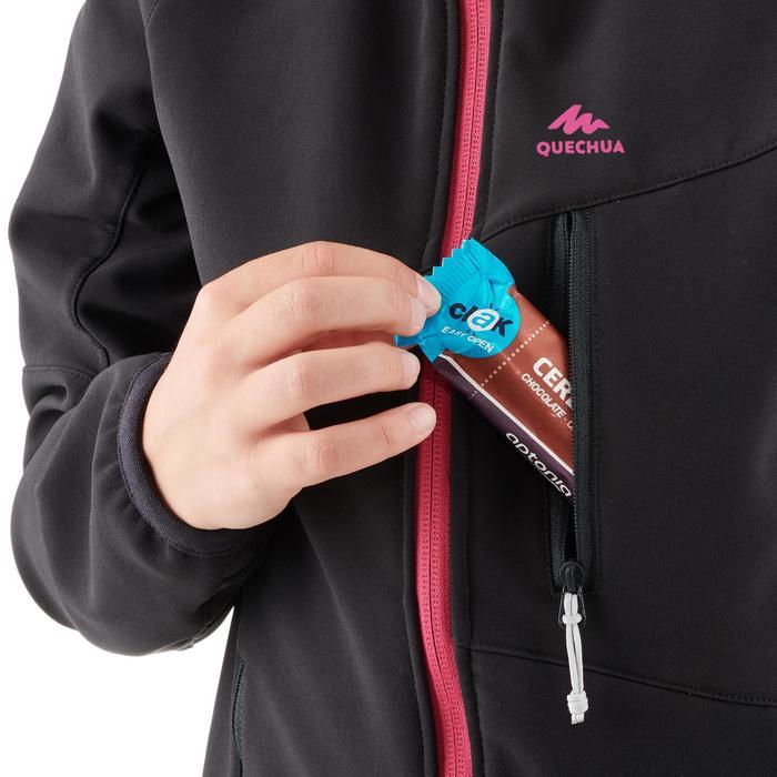 Softshelljacke Wandern MH550 Kinder 123-172cm schwarz/rosa