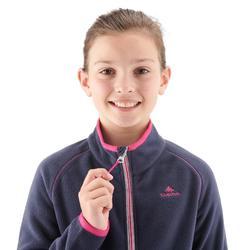 Fleece vest voor wandelen kinderen MH150 marineblauw