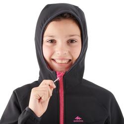 Chaqueta Softshell de senderismo niña Hike 900 negro
