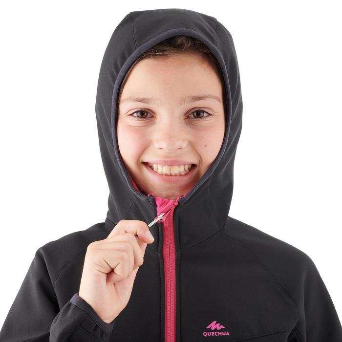 Softshell-wandeljas voor meisjes Hike 900 zwart