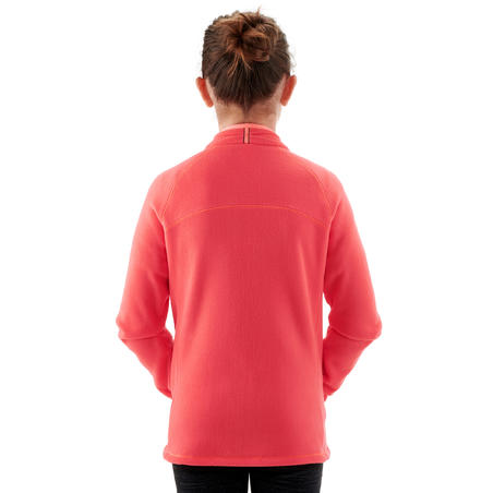 Kids Age 7-15 Hiking Fleece Jacket MH150 - Coral