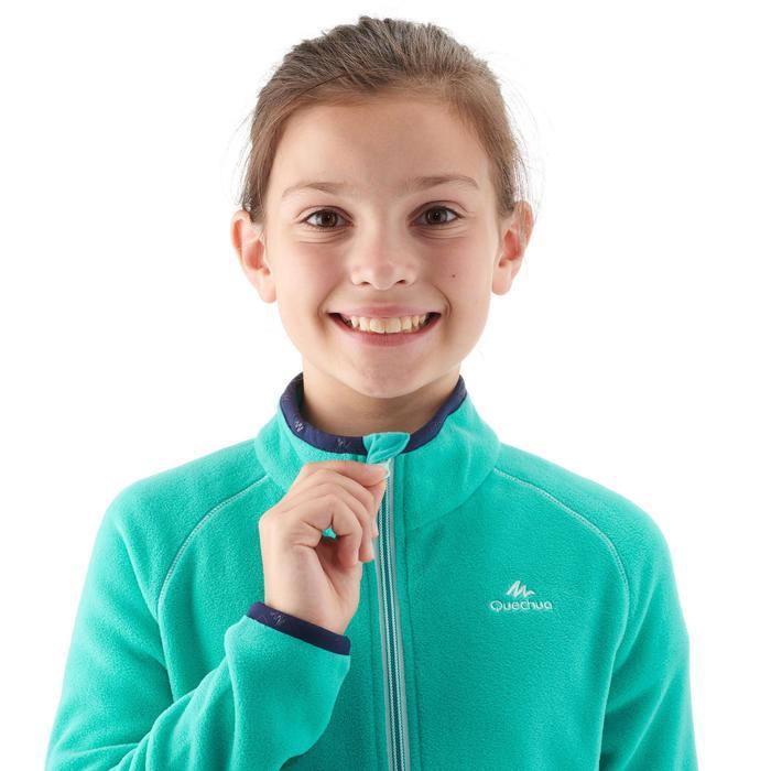 Fleecejacke Wandern MH150 Kinder Mädchen 123-166cm türkisblau