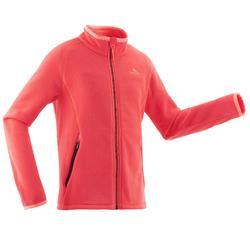 Kids Age 7-15 Hiking Fleece Jacket MH150 - Coral