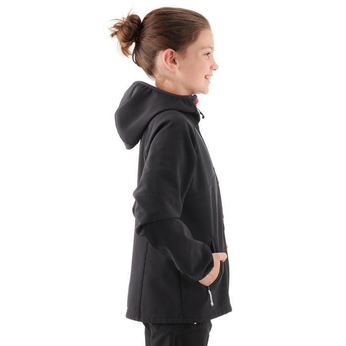 Veste softshell de randonnée fille Hike 900 noir