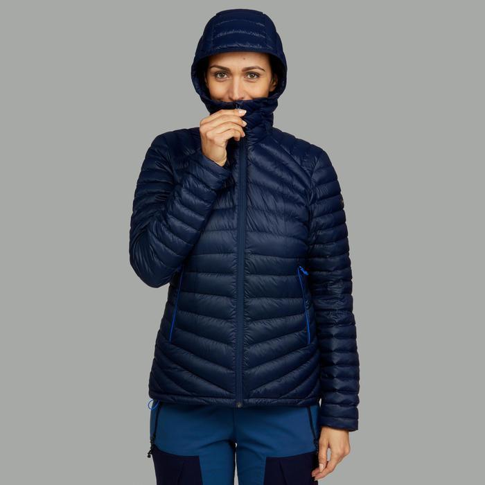 Doudoune trekking montagne TREK 100 Duvet femme bleu marine