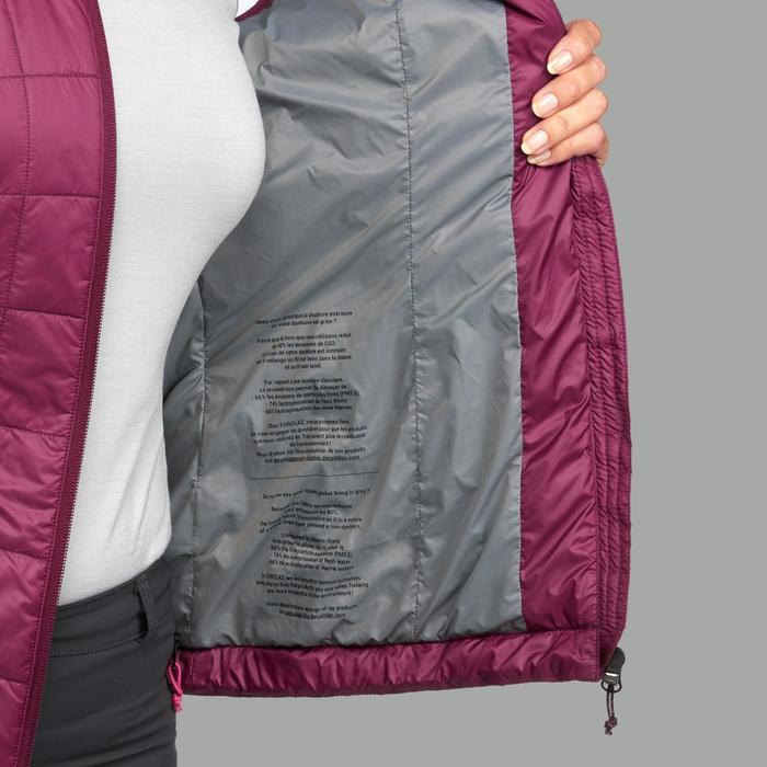 Gilet doudoune sans manche trekking montagne TREK100 femme violet
