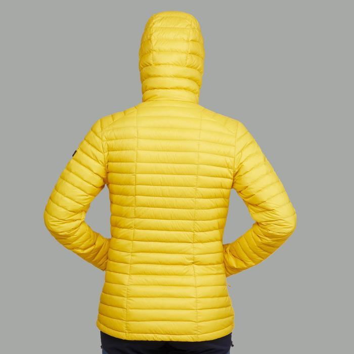 Chaqueta acolchada trekking en montaña TREK 500 mujer amarillo