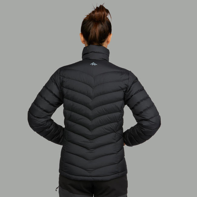 Women's Mountain Trekking Down Jacket Trek 500 - black