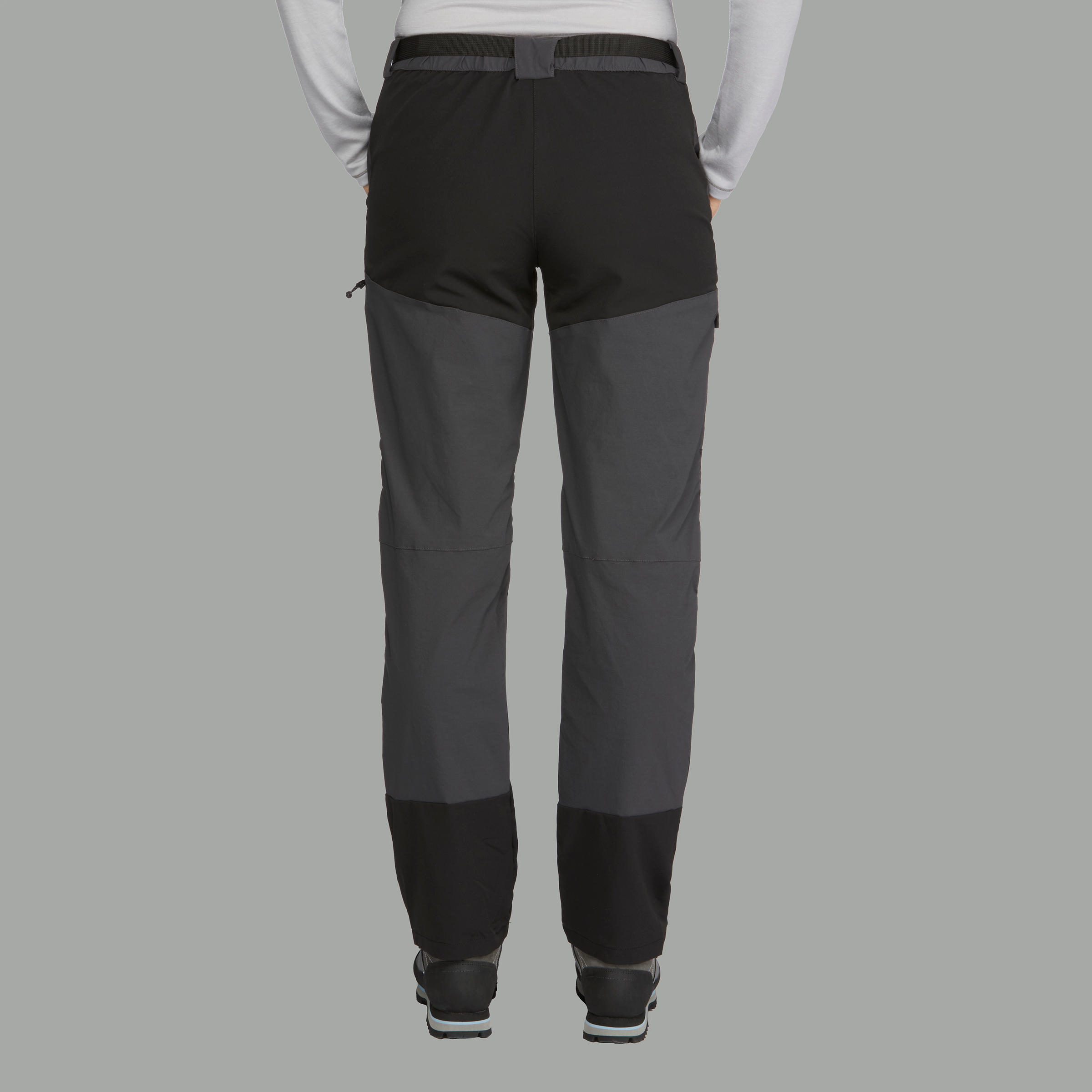 Women's TREK 500 mountain trekking trousers - Dark grey