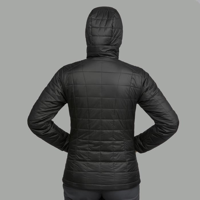 Wattierte Jacke Trek 100 mit Kapuze Damen schwarz