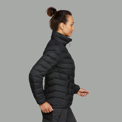 Doudoune randonnée montagne RANDO 500 Duvet femme noir