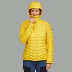Donsjas voor bergtrekking dames Trek 100 geel