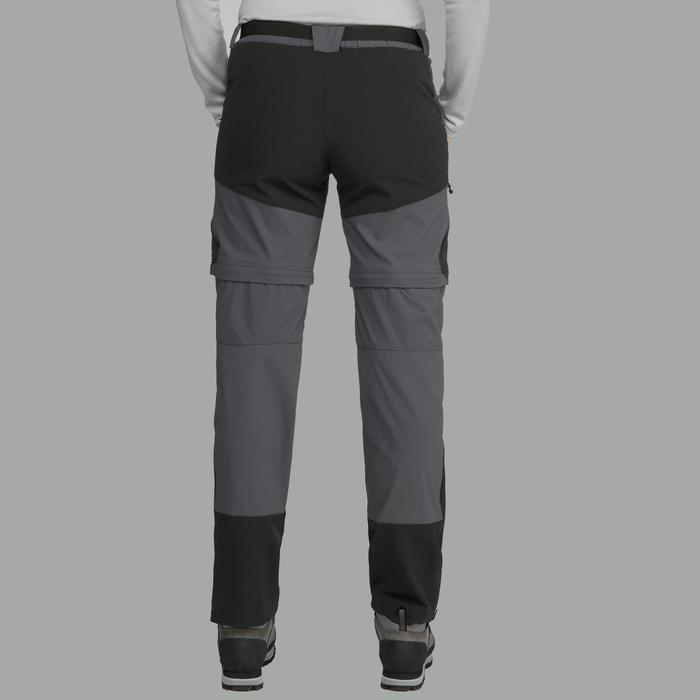 Pantalon modulable de trek montagne - TREK 500 gris foncé femme
