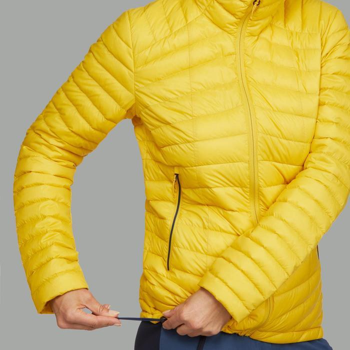 Donsjas voor bergtrekkings dames Trek 500 geel