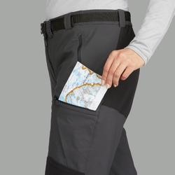 Pantalon trekking montagne TREK500 femme gris foncé