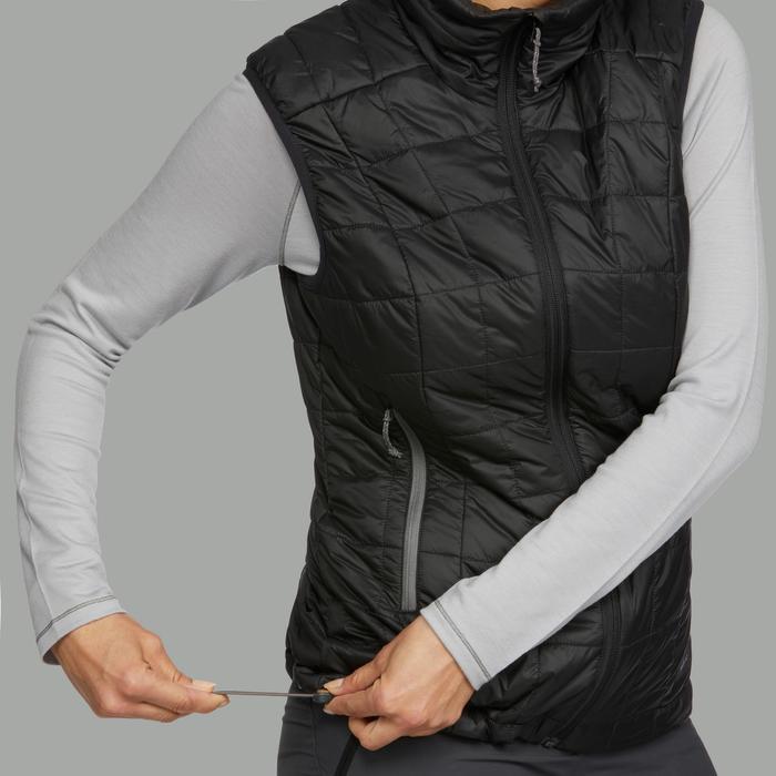 Bodywarmer voor bergtrekking dames Trek 100 zwart