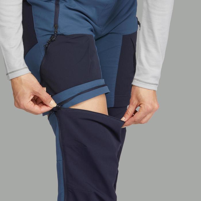 Pantalon modulable trekking montagne TREK500 femme Bleu