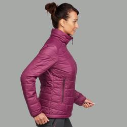 Doudoune de trek montagne - Trek 100 Violet Femme