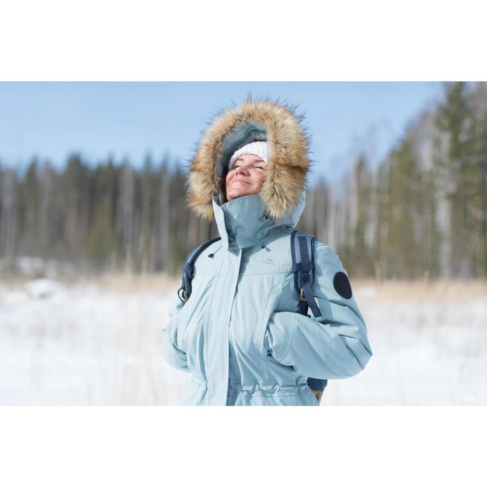 Wanderjacke Winterwandern SH500 Ultra-warm Damen blau