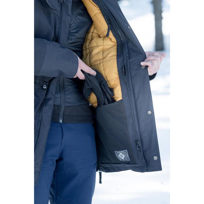 Wanderjacke Winterwandern SH500 Ultra-warm Herren schwarz