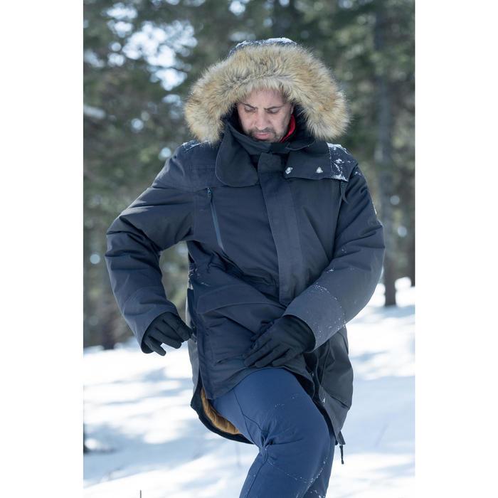 男款極致保暖雪地健行外套SH500-黑色。