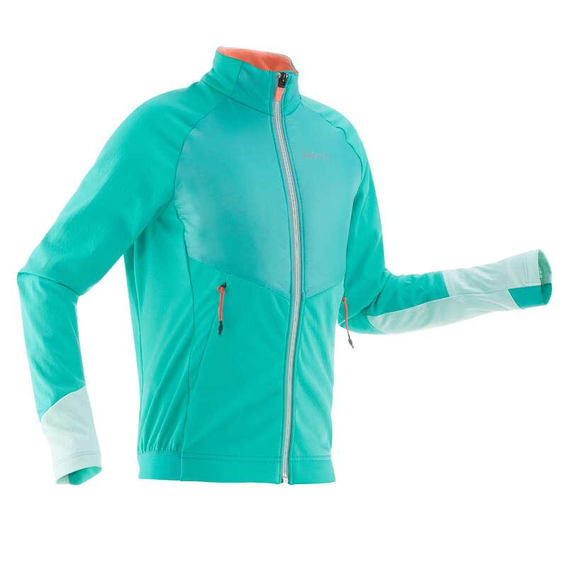 JUNIOR CROSS COUNTRY SKI CLOTHING Cross-Country Skiing - Xc s 550 girls' warm jkt blue INOVIK - Cross-Country Skiing
