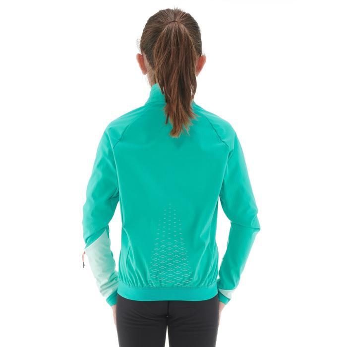 Veste chaude de ski de fond fille XC S JKT 550 bleu
