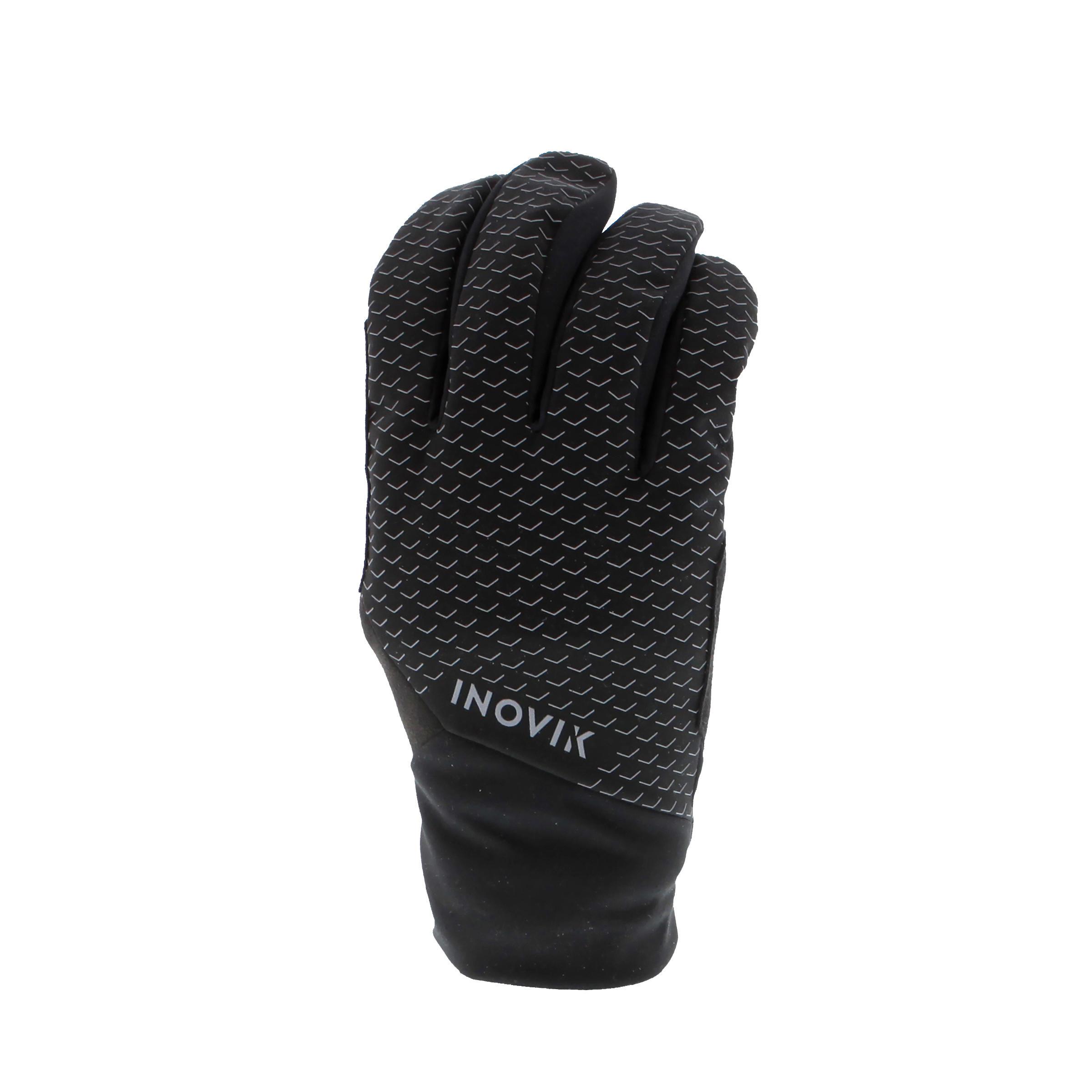 Inovik Warme kinderhandschoenen voor langlaufen XC S 100 zwart