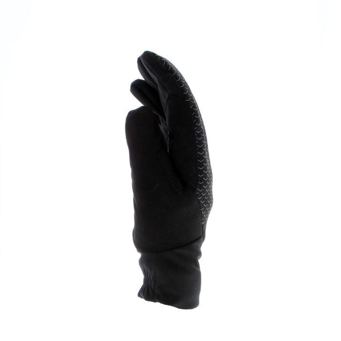 Warme langlaufhandschoenen voor kinderen 100 zwart