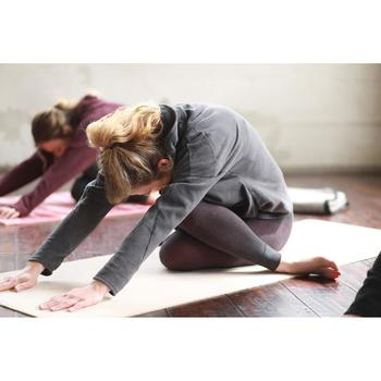 Relax-Sweatshirt Yoga Damen graumeliert