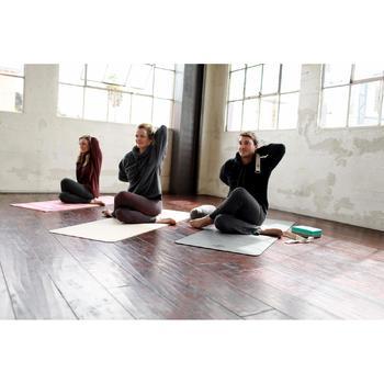 Sweater voor relaxatie bij yoga zwart
