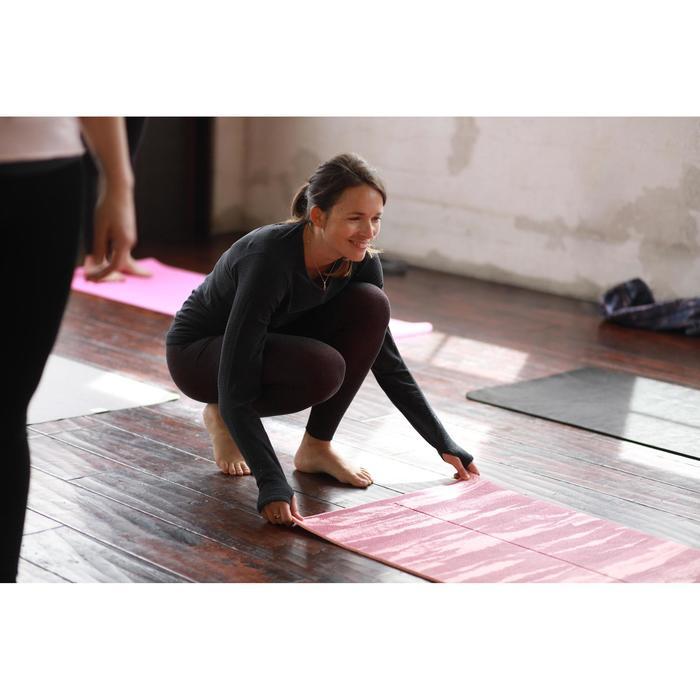 Naadloze dameslegging voor zachte yoga gemêleerd bordeaux