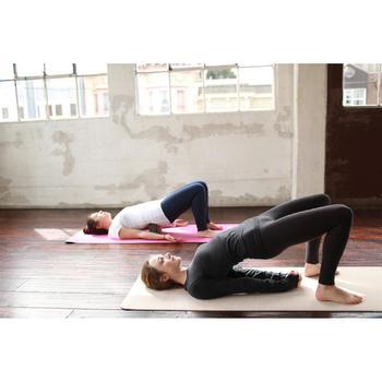 Langarmshirt sanftes Yoga Damen dunkelgraumeliert