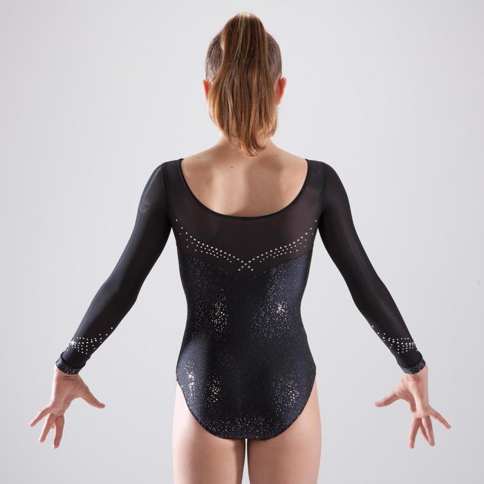 Justaucorps manches longues de gymnastique artistique féminine strass - 1507175