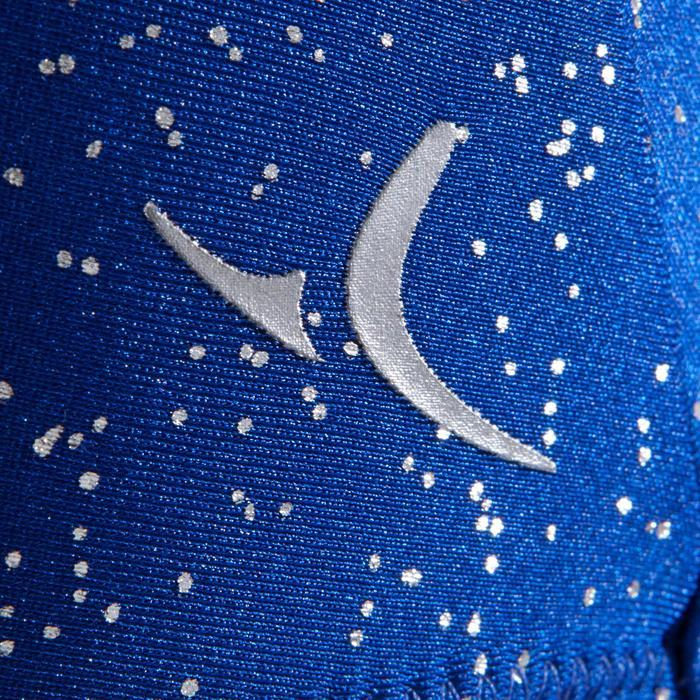 Mouwloos turnpakje voor toestelturnen dames blauw met strass