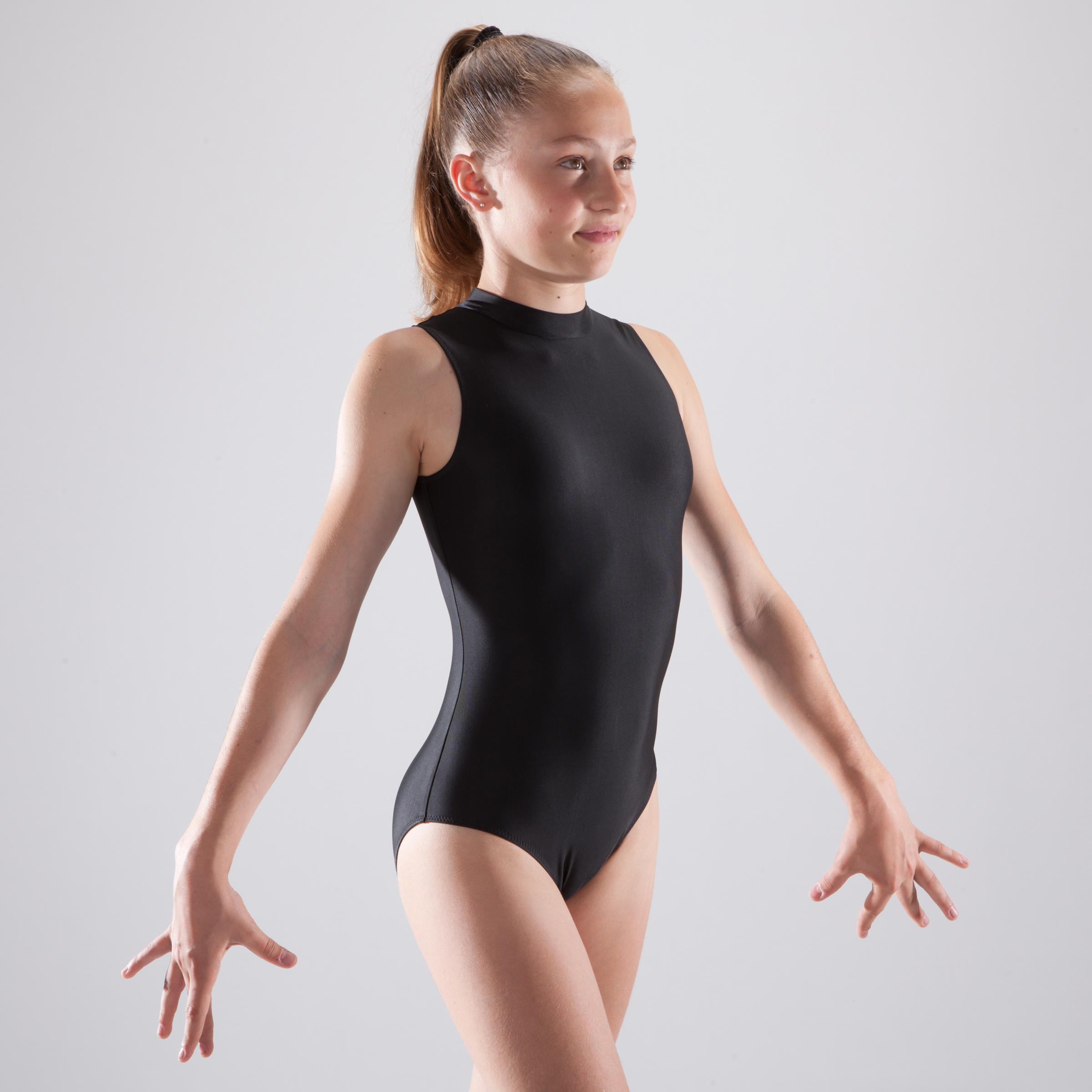 Girls' Sleeveless Gymnastics Leotard