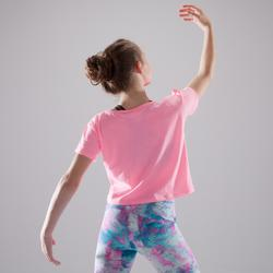 Dance-Shirt Kinder neonrosa