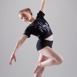 T-Shirt Tanzen Kurzarm kurz / weit geschnitten Mädchen