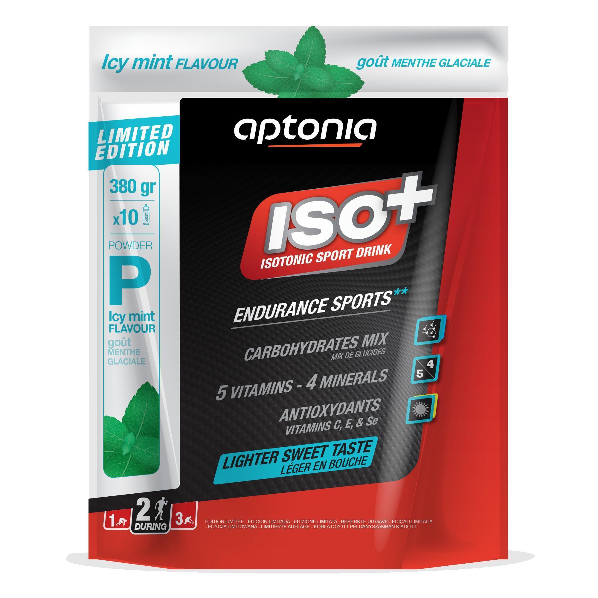 Aptonia Poeder voor isotone dorstlesser ISO+ frisse munt 380 g