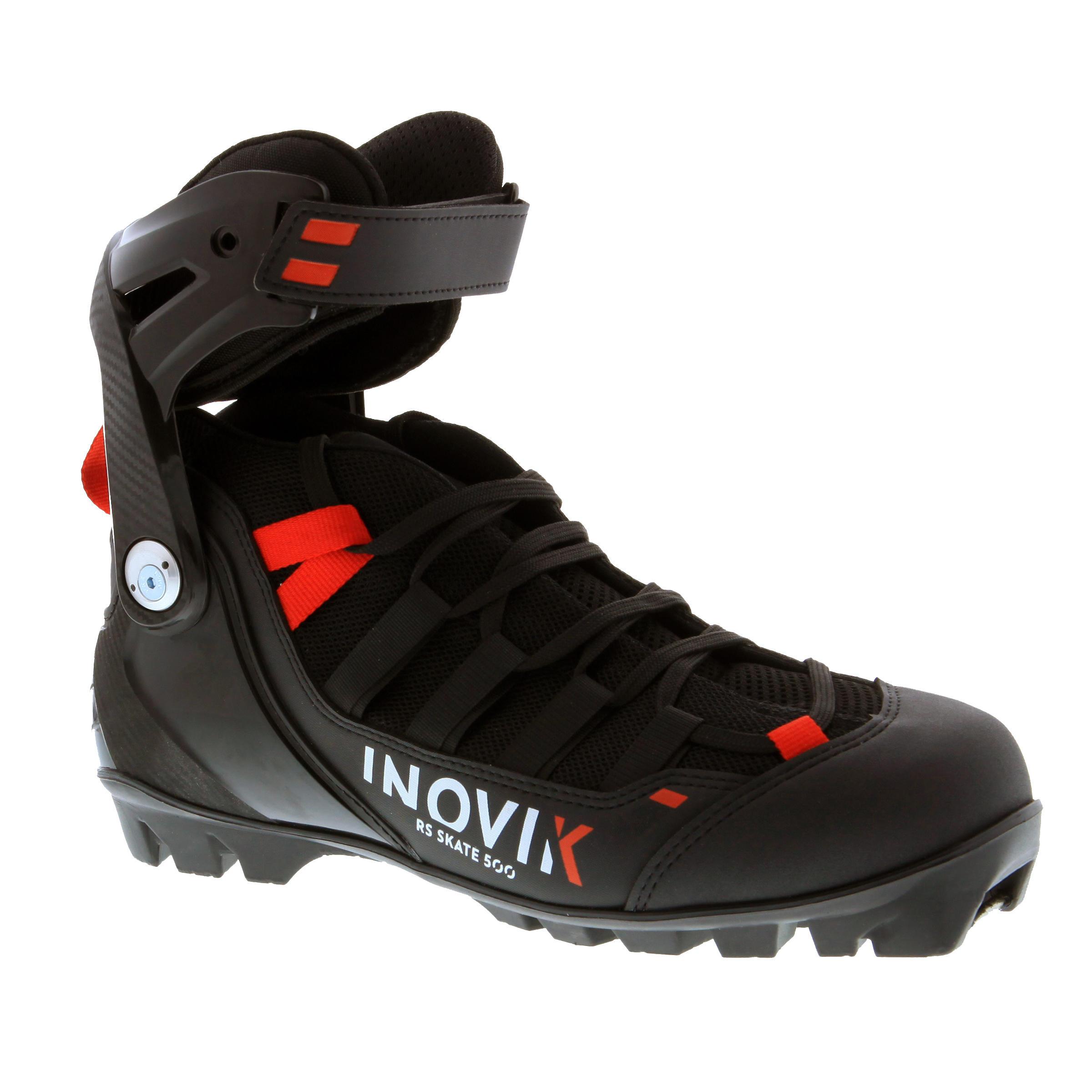 Inovik Schoenen voor skating rolskiën volwassenen XC SR BOOTS 500 zwart thumbnail