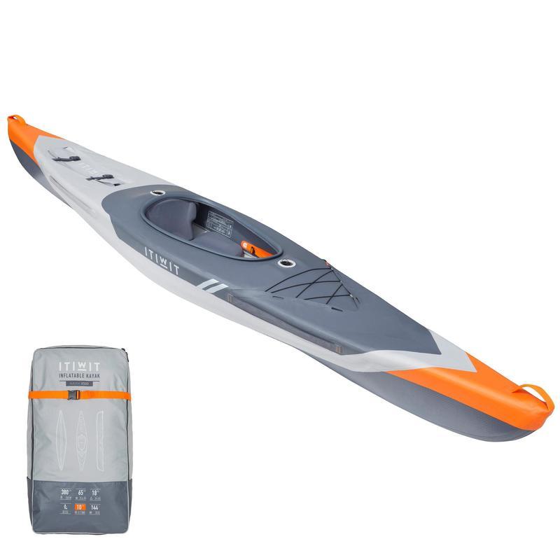 Kayak Hinchable Itiwit Drop Stitch alta presión Strenfit X500 1plaza Piragüismo.