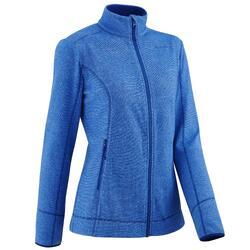 MH120 Women's Mountain Hiking Fleece Jacket - Dark Blue