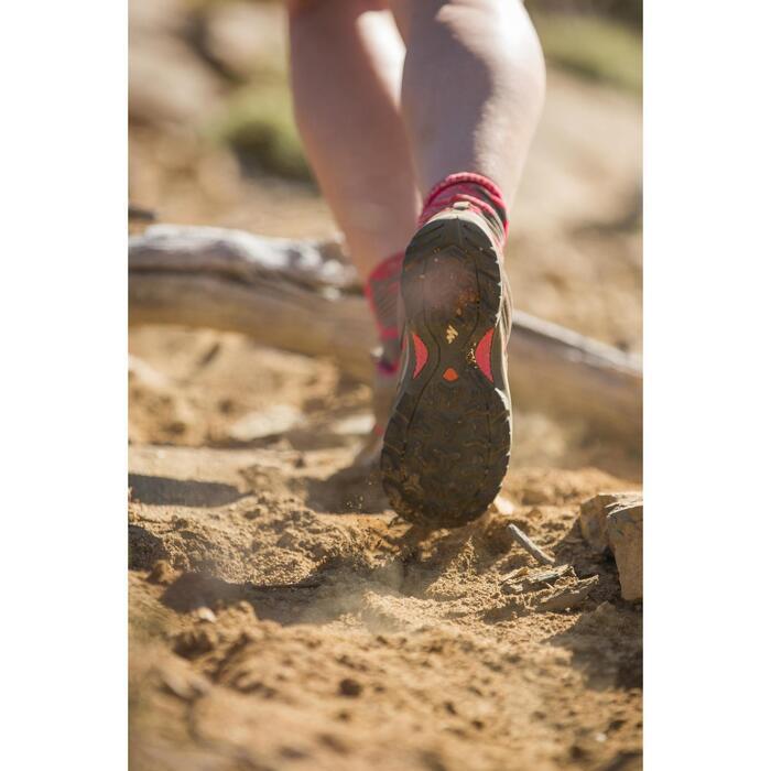 Women's - Mountain walking shoes - MH100 - Grey/Pink