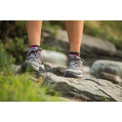 Women's mountain walking shoes MH100 - grey pink