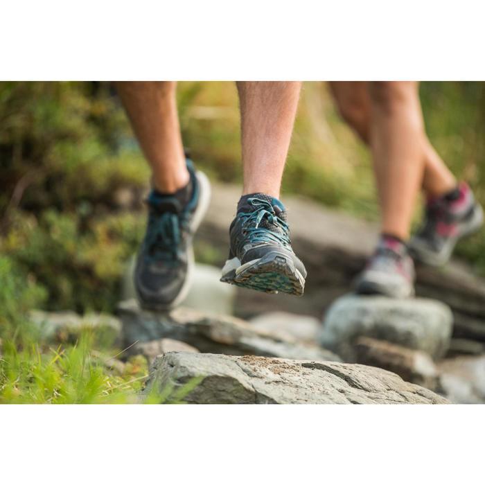 MH100 Men's Mountain Hiking Shoes - Black
