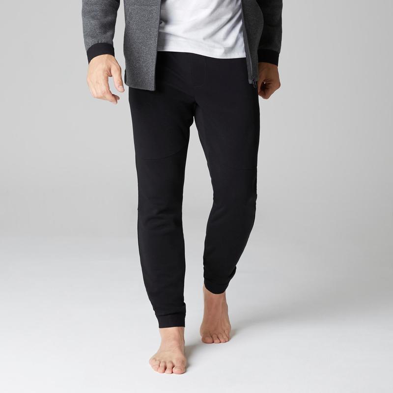 Pánské kalhoty 560 slim na cvičení černé  f950f20ce6