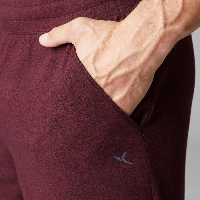 Short 500 regular au dessus du genou Pilates Gym douce homme bordeaux
