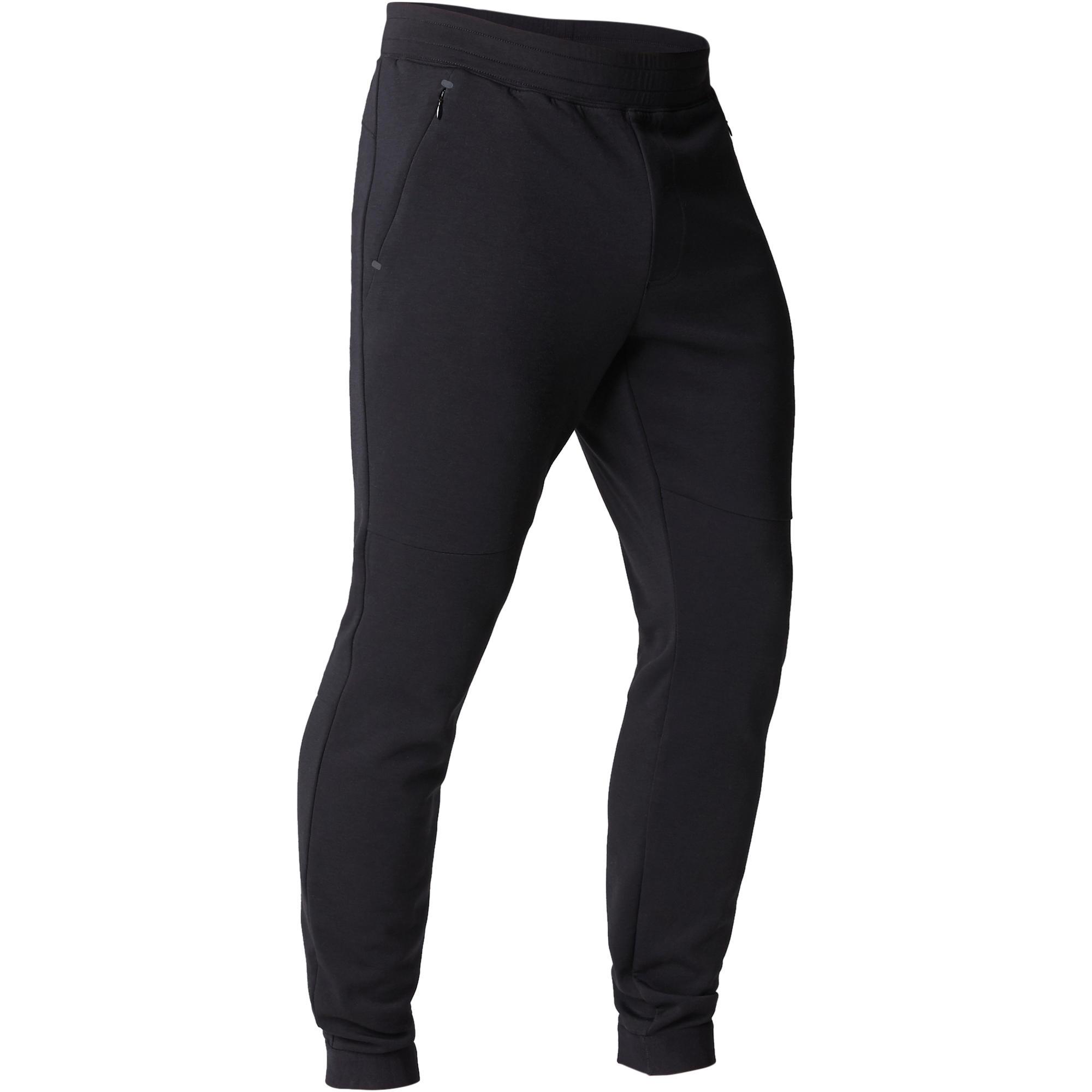 Pantalon 560 ajusté gymnastique d'étirement noir homme